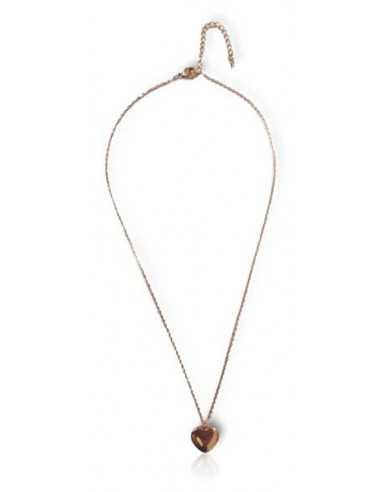 """Collier acier inoxydable 316L doré pendentif coeur avec inscription """" Eternel Love"""""""