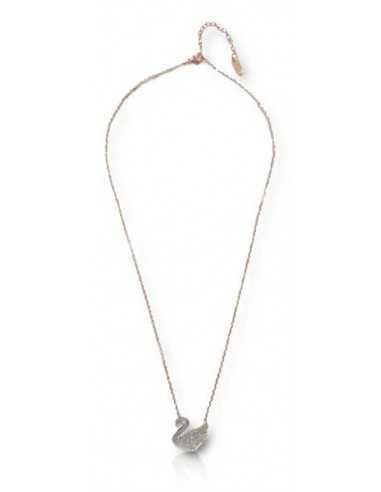 Collier acier inoxydable 316L doré pendentif canard décoré de cristal