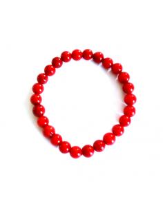 Bracelet perles de corail 5 mm