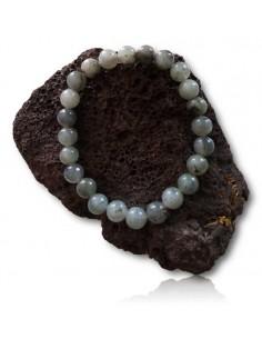 Bracelet quartz à inclusion de labradorite pierres boules 8 mm