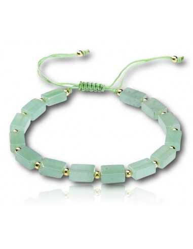 Bracelet pierre aventurine ajustable