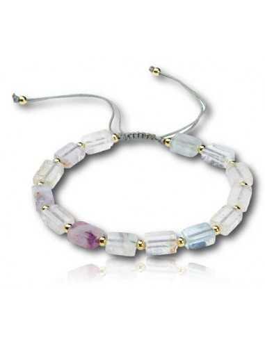 Bracelet pierre fluorite ajustable