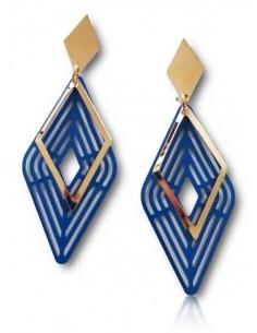 Boucles d'oreilles losanges géométriques tendances