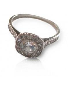 12 bagues anneaux sertis de zirconium motif carré