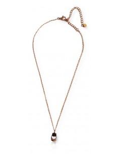 Collier pendentif acier inoxydable doré motif hiboux