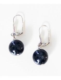 Boucles d'oreilles quartz inclusion de tourmaline pierre naturelle 1.2 cm