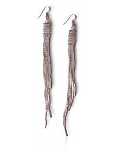 Boucles d'oreilles soirée longues pendantes