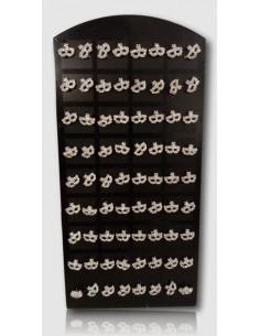 36 paires de boucles d'oreilles motif masque sur présentoir