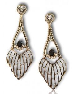 Boucles d'oreilles pendantes motifs ailes anges graphiques vintage