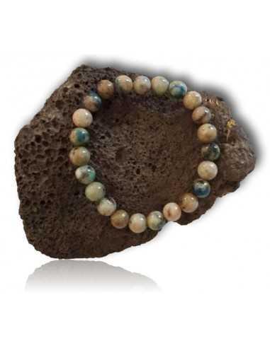 Bracelet jaspe orbiculaire pierres boules 8 mm