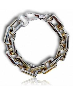 Bracelet grosse maille carré tendance XXL