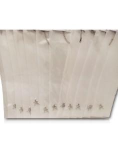 12 colliers pendentifs fée zirconium sur fil transparent acier inoxydable