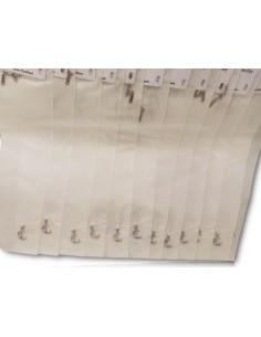 12 colliers pendentifs lune graphique sur fil transparent acier inoxydable