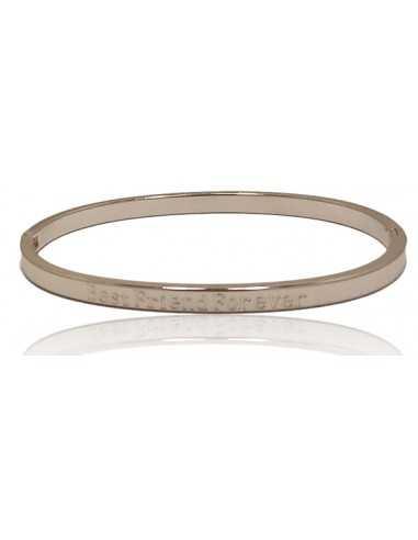 """Bracelet acier inscription """" Best friends for ever """""""