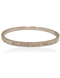 """Bracelet acier inscription """"Meilleures amies pour la vie"""""""