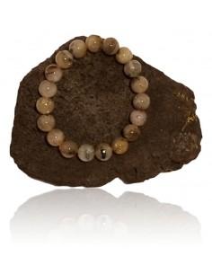 Bracelet quartz cheveux de Vénus pierres boules 10 mm