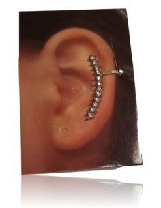 Bijoux d'oreilles petite ligne de strass