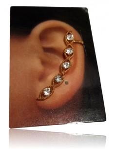 Bijoux d'oreilles farandole de strass