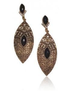 Boucles d'oreilles vintage métal vieilli pointes orientales