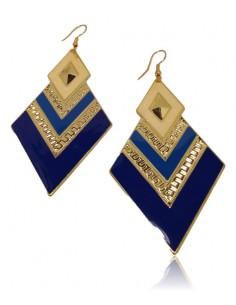 Boucles d'oreilles fantaisie géométriques couleur pendantes