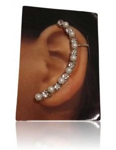 Bijoux d'oreilles ligne de perles fantaisie