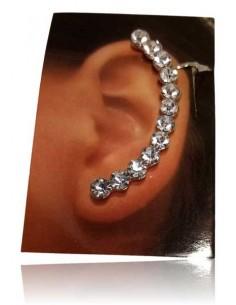 Bijoux d'oreilles ligne de strass ronds