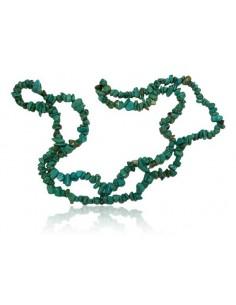 Fil de pierres naturelle turquoise chips 80 cm