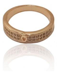 12 anneaux sertis sur 2 rangs toutes tailles