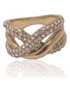 12 bagues anneaux entrecroisés serties, toutes tailles