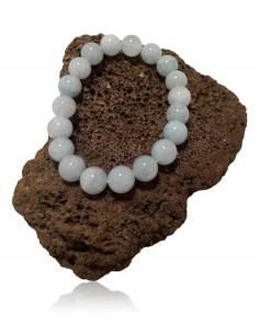Bracelet calcédoine pierres boules 10 mm