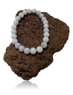 Bracelet calcédoine pierres boules 8 mm