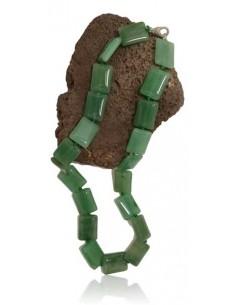 Collier aventurine pierres carrées
