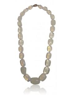 Collier opale pierres cubiques tailles dégradées