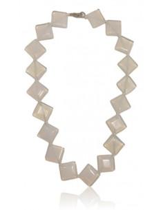 Collier opale pierres carrées