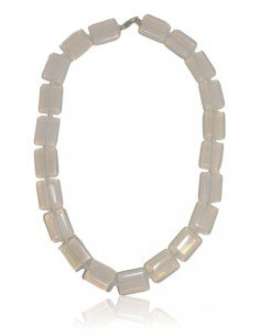 Collier opale pierres rectangles