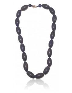 Collier lapis-lazuli pierres tambour