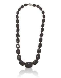 Collier onyx pierres cubiques larges dégradées