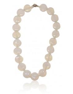 Collier opale pierres rondes pastilles
