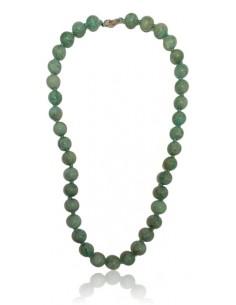 Collier Amazonite perles rondes pierre naturelle 10 mm