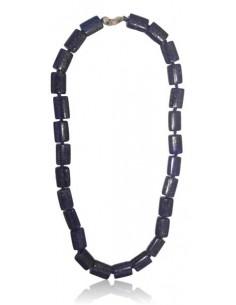 Collier lapis-lazuli rectangles