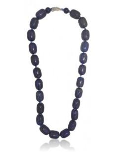 Collier lapis-lazuli pierres cubiques