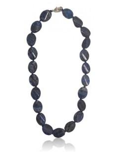 Collier lapis-lazuli ovales
