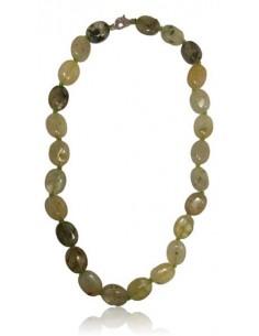 Collier prehnite pierres ovales