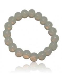 Bracelet opale pierres boules 10 mm