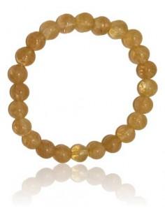 Bracelet citrine pierres boules 8 mm
