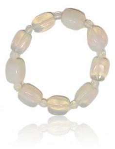 Bracelet opale pierres cubiques & boules