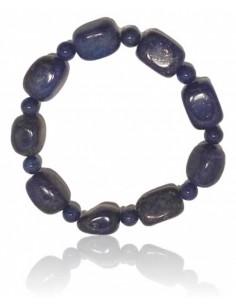 Bracelet lapis lazuli pierres cubiques & boules