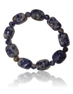 Bracelet sodalite pierres cubiques & boules