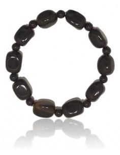 Bracelet onyx pierres cubiques & boules