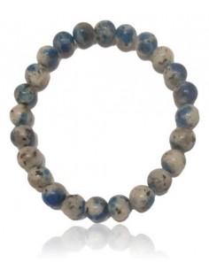 Bracelet sodalite pierre mate boules 8 mm